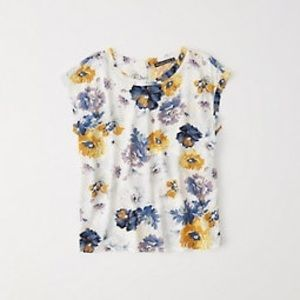 Abercrombie floral tee